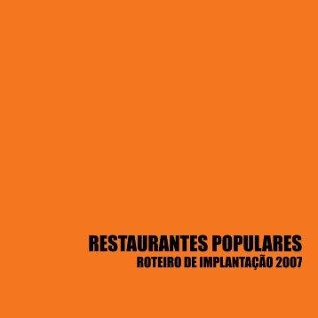 Roteiro de Implantação – Restaurantes Populares - Universidade ...