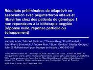 Résultats préliminaires de telaprevir en association avec ... - Afef