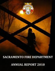 SACRAMENTO FIRE DEPARTMENT ANNUAL REPORT 2010