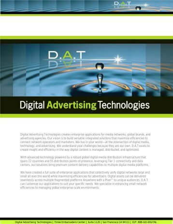 D.A.T Enterprise Solutions and Clients - Digital Advertising ...