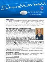 Ausgabe Nr. 1 - SV Blau-Weiss-Wiehre Freiburg eV