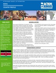 COUNTRY PROFILE KENYA - Action Against Hunger