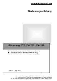 Bedienungsanleitung Steuerung STE 336-200/336-201 - TOX ...