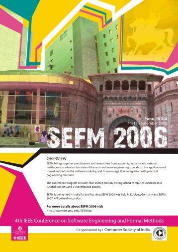 SEFM 2006 Flyer (pdf) - UNU-IIST