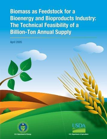 Biomass as Feedstock - Biorefinery