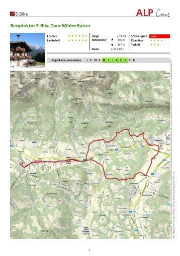 E-Bike Bergdoktor E-Bike Tour Wilder Kaiser - Residenz Theresa