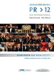 Der Internationale Deutsche PR-Preis 2012
