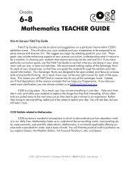 6-8 Mathematics TEACHER GUIDE - COSI