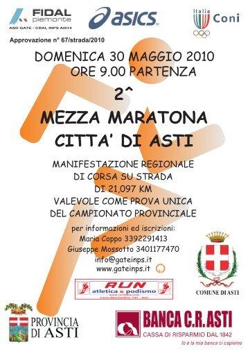 2^ MEZZA MARATONA CITTA' DI ASTI - Atletica Varazze