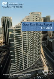 Qatar Real Estate Report Q1 2013 - Al Asmakh Real Estate