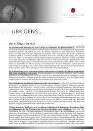 Newsletter vom 28. Mai 2010 - TOP-Investment GmbH