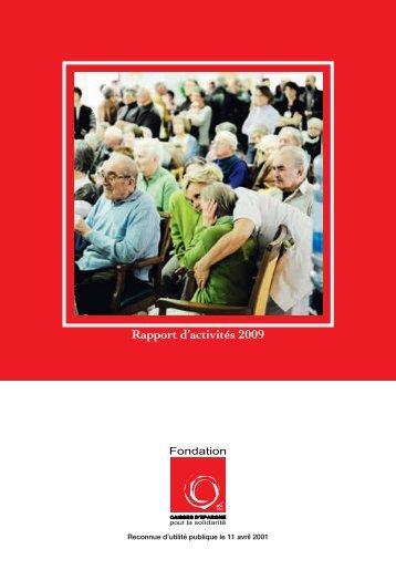 Télécharger le document - Fondation Caisses d'Epargne pour la ...
