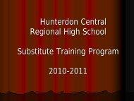 Hunterdon Central Hunterdon Central Regional High School ...