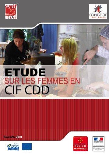 Etude sur les femmes en CIF CDD - Fongecif Midi Pyrénées