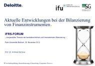 Aktuelle Entwicklungen bei der Bilanzierung von Finanzinstrumenten ...