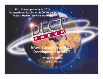 International Case Study Development of DECT - DECT Forum India