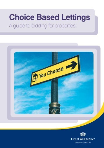 A Guide To Bidding For Properties - Westminster City Council