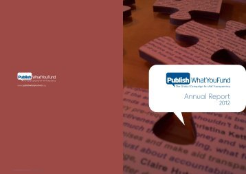 2012 Annual Report - Publish What You Fund