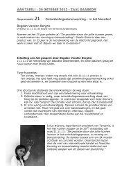 Verslag tafel 21 Bogdan Vanden Berghe - Studio Globo