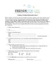 Childcare Medical Information Sheet in PDF format - Children with ...