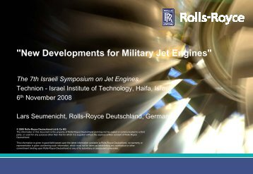 1. New Developments for Military Gas Turbines