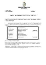 Delibera tariffe TARSU 2012 - Comune di Riccione
