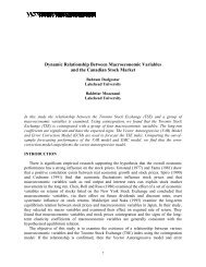 Dynamic Relationship Between Macroeconomic Variables And The