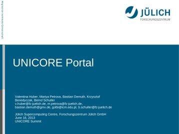 UNICORE Portal
