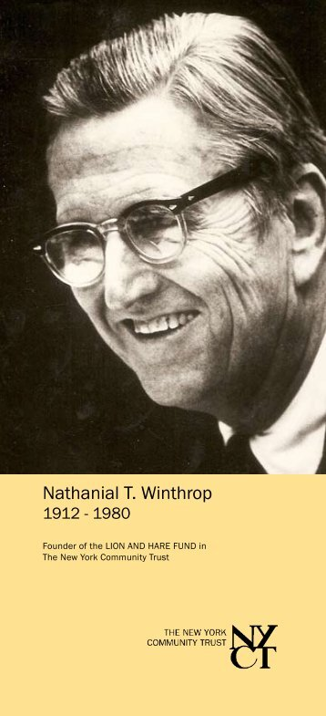 Nathanial T. Winthrop - The New York Community Trust
