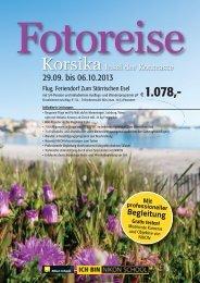 Zusammenfassung Programm Fotoreise - Rhomberg Reisen