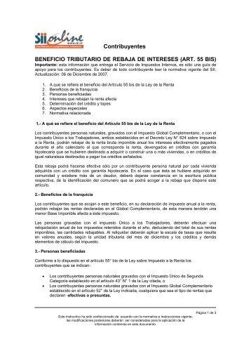 Versión Imprimible - Servicio de Impuestos Internos