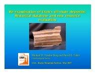 Re-examination of Utah's oil shale deposits - Utah Geological Survey