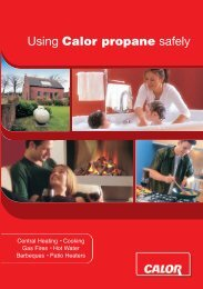 Using Calor propane safely - Calor Gas