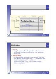 Suchalgorithmen Motivation - Telematik TH Wildau