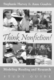 Think Nonfiction! - Stenhouse Publishers