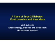 A Case of Type 2 Diabetes: Controversies and New Ideas