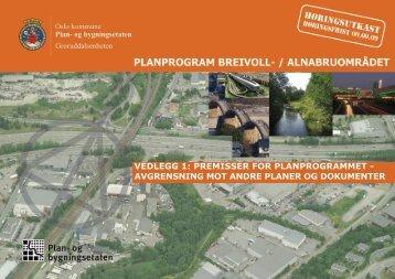 Premissrapport - anbefaling - Plan