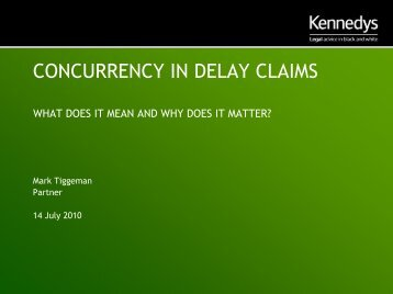 CONCURRENCY IN DELAY CLAIMS