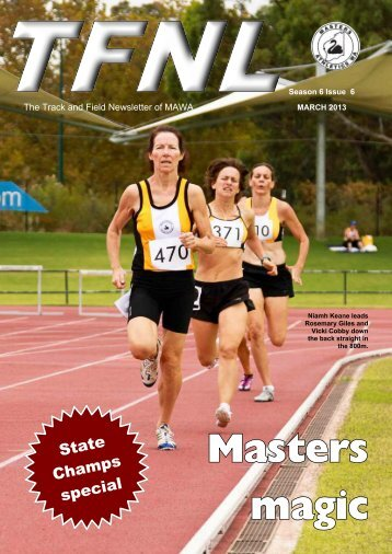 March 2013 - State Championships - Masters Athletics W.A.
