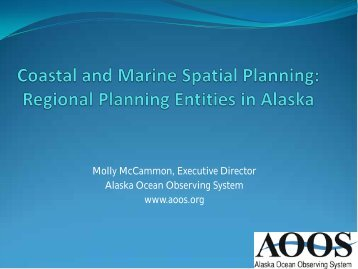 Coastal & Marine Spatial Planning - Climate Change in Alaska