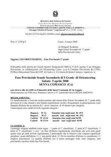 Fase Provinciale 1 Grado - Ambito Territoriale Como - Ufficio ...