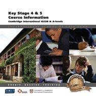 KS4 Brochure - International School of Cape Town