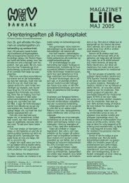 MAJ 2005 MAGAZINET Orienteringsaften på ... - Hiv-Danmark