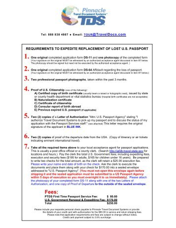 requirements to expedite replacement of lost us passport - Travel ...