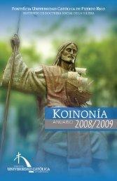 koinonía 2008/2009 - Pontificia Universidad Católica de Puerto Rico