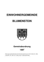 Gemeindeordnung der Einwohnergemeinde Blumenstein
