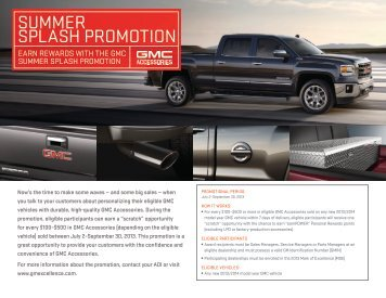 GMC Summer Splash Promotion