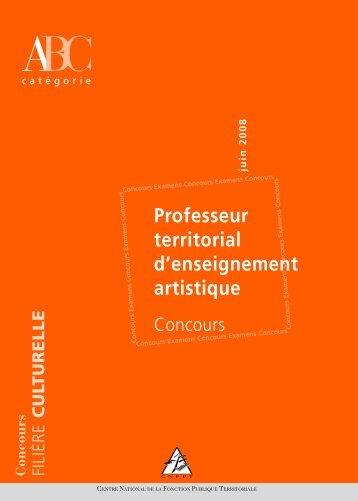 Professeur territorial d'enseignement artistique