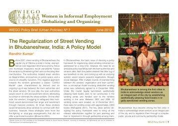 The Regularization of Street Vending in Bhubaneshwar, India - WIEGO