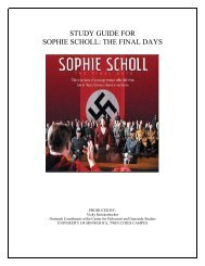 study guide for sophie scholl - Center for Holocaust & Genocide ...